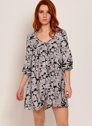 Motel Rocks Desenli Mini Elbise Kadın – Trend – X – Dokuma – Elbise